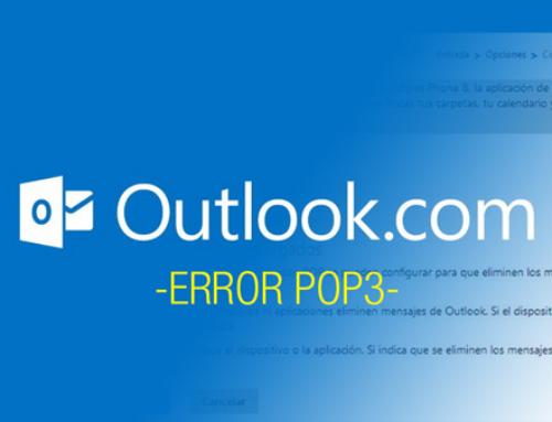 Error de acceso a Outlook por POP3